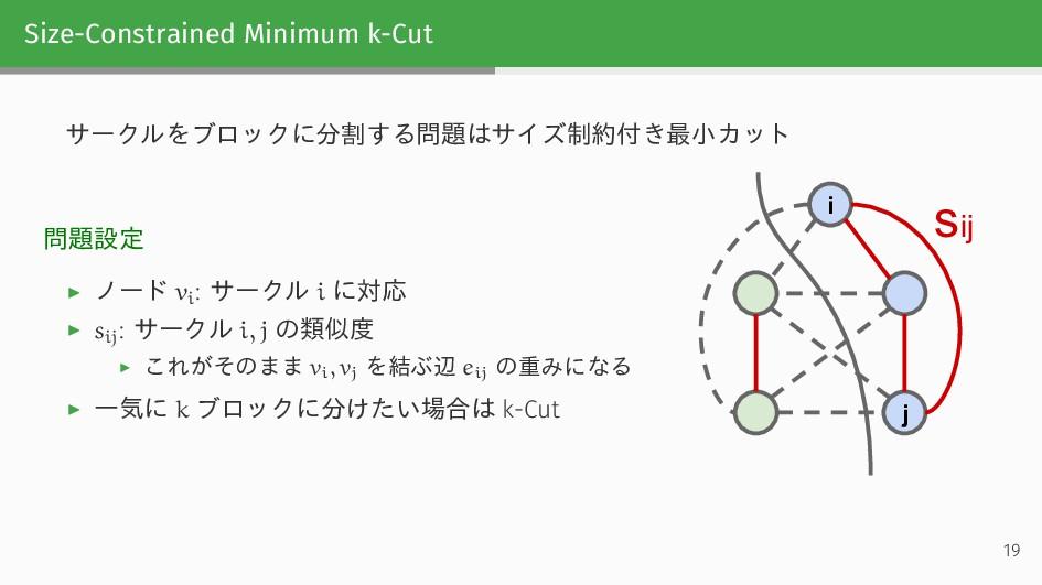 Size-Constrained Minimum k-Cut サークルをブロックに分割する問題...