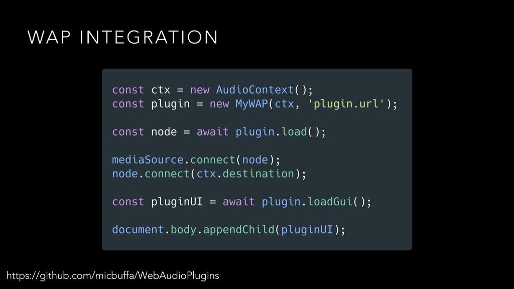 WAP INTEGRATION https://github.com/micbuffa/Web...