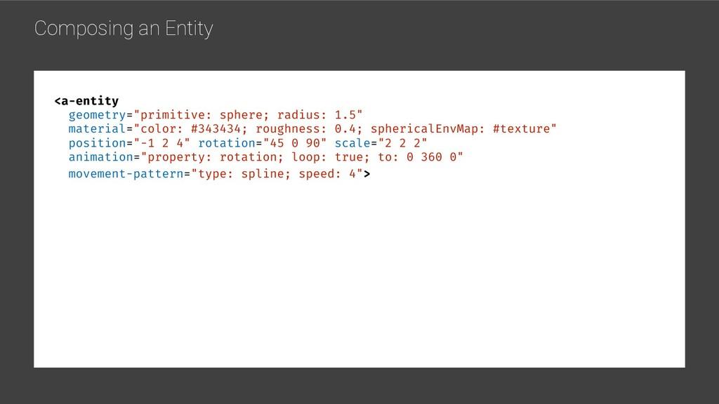 "Composing an Entity <a-entity geometry=""primiti..."
