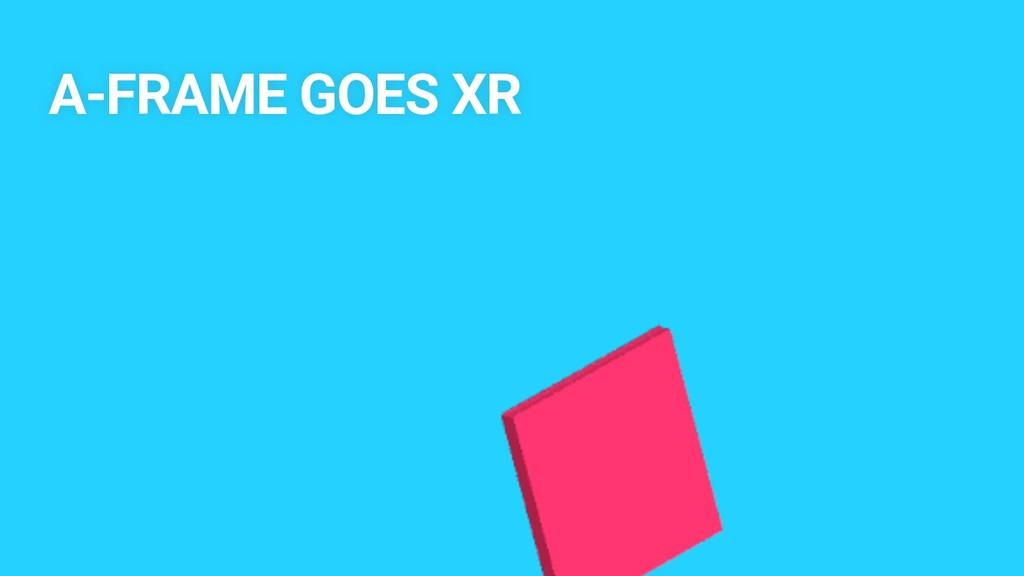 A-FRAME GOES XR