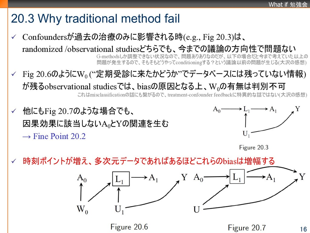 What if 勉強会 20.3 Why traditional method fail 16...