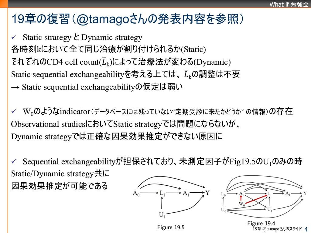What if 勉強会 ü Static strategy と Dynamic strateg...