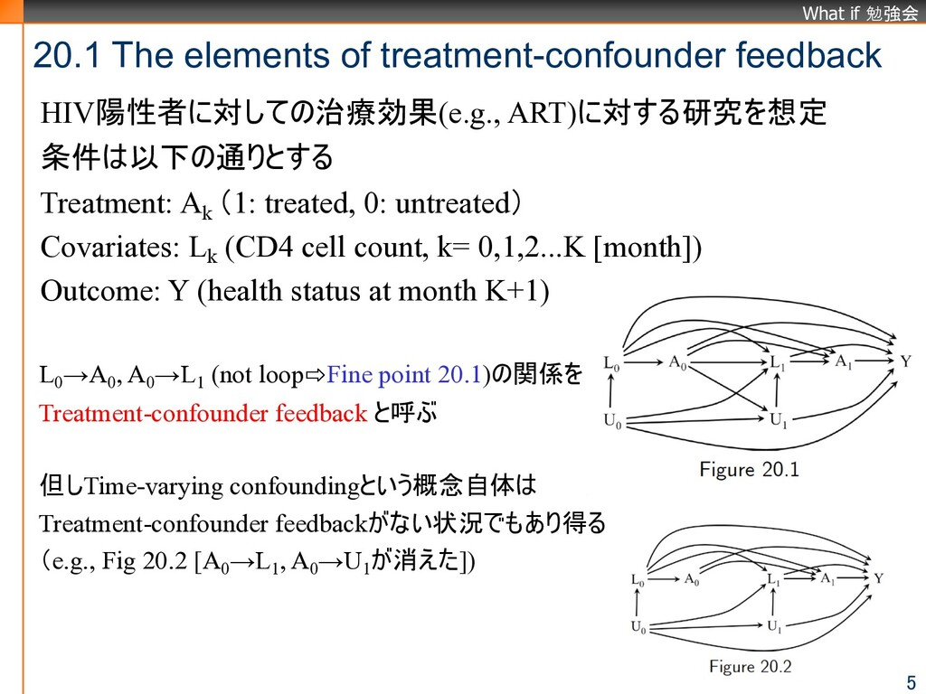 What if 勉強会 20.1 The elements of treatment-conf...