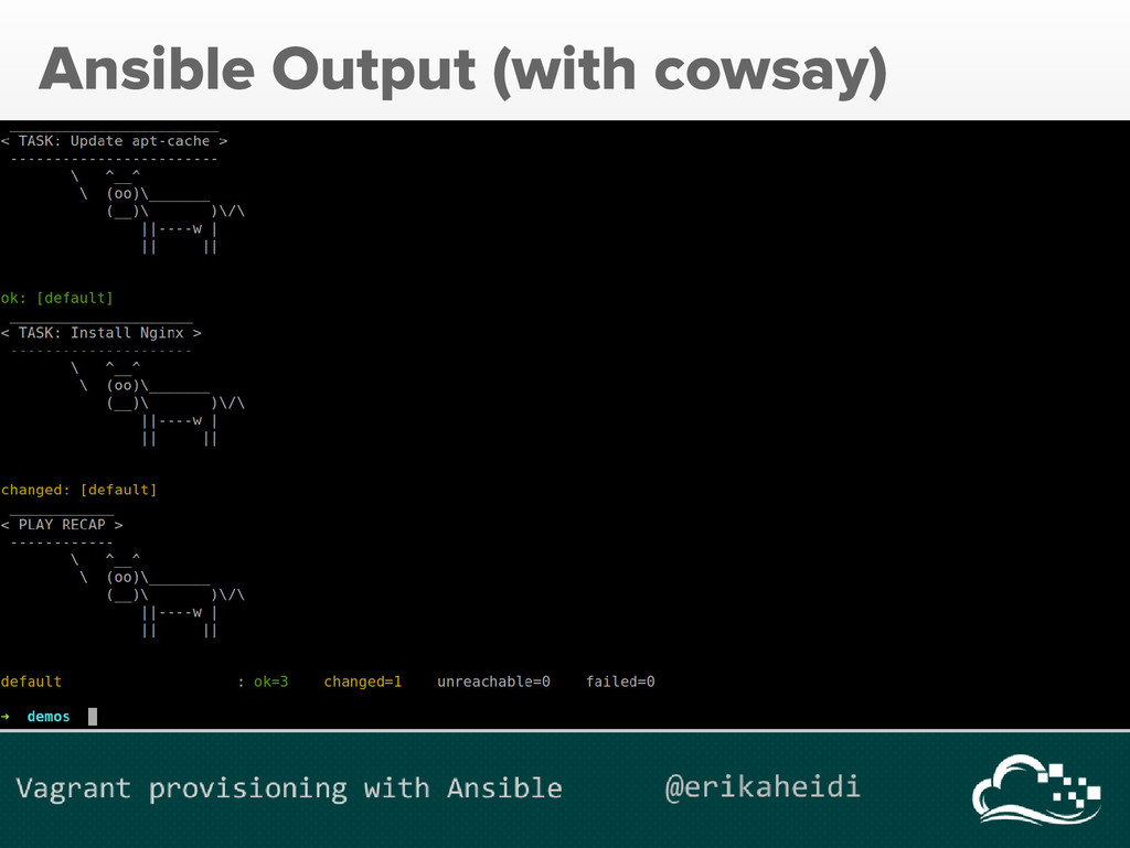 Ansible Output (with cowsay)