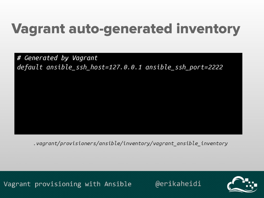 Vagrant auto-generated inventory # Generated by...