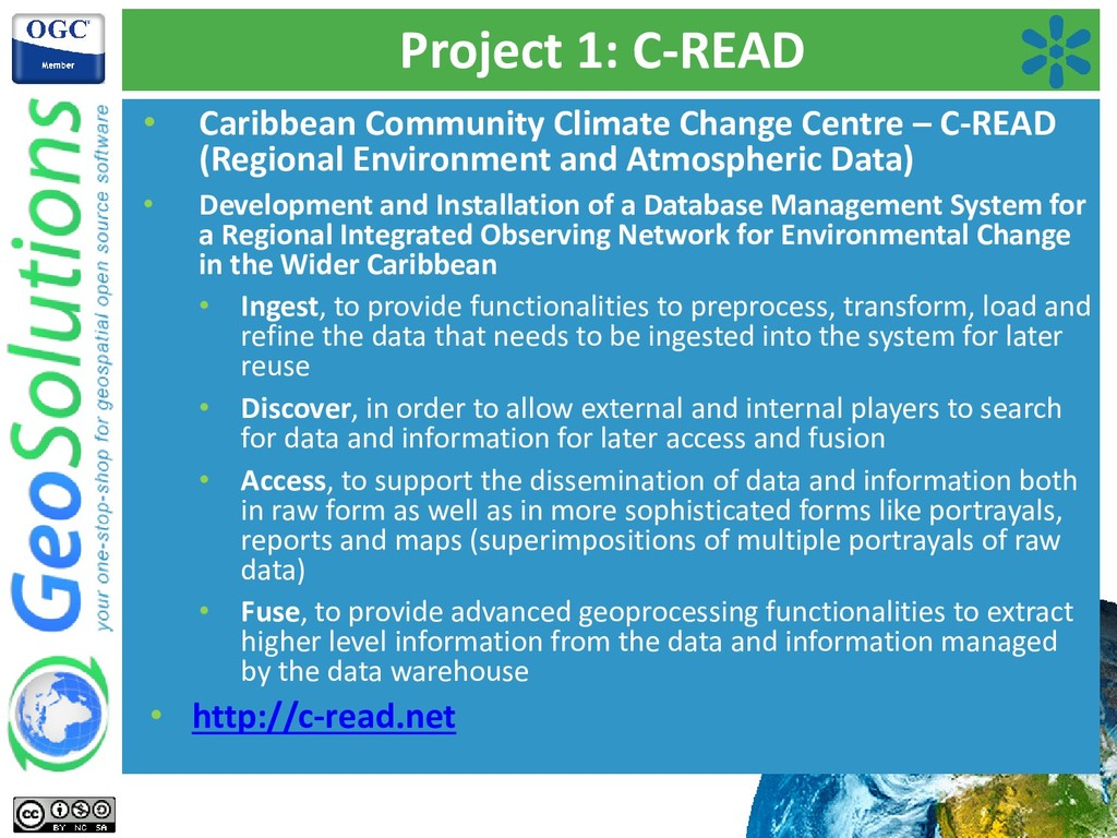 Project 1: C-READ • Caribbean Community Climate...