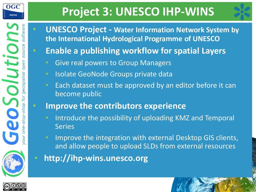 Project 3: UNESCO IHP-WINS • UNESCO Project - W...