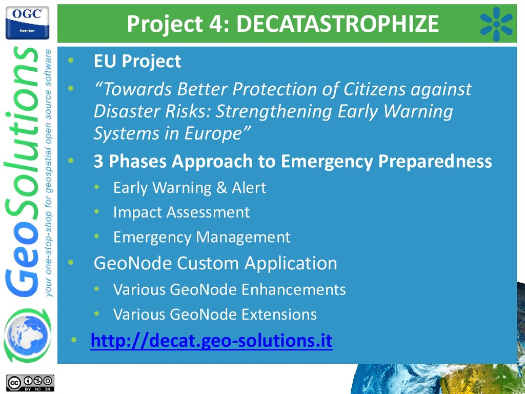 """Project 4: DECATASTROPHIZE • EU Project • """"Towa..."""