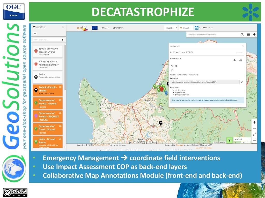 DECATASTROPHIZE • Emergency Management → coordi...