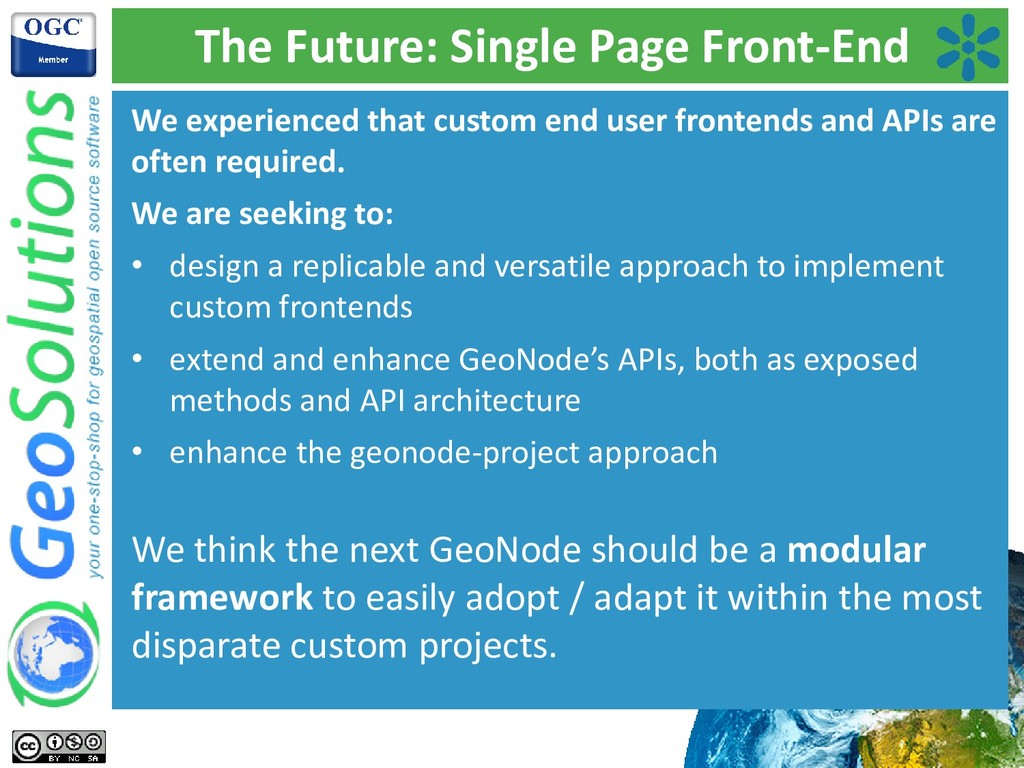 The Future: Single Page Front-End We experience...