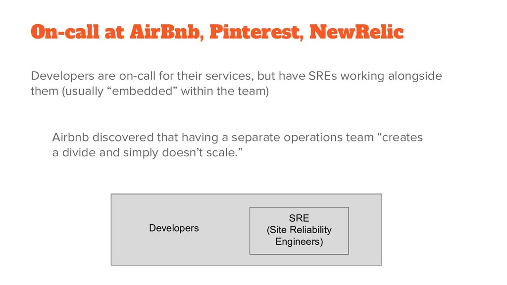 On-call at AirBnb, Pinterest, NewRelic Develope...