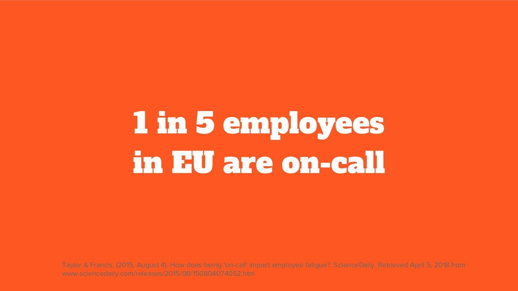1 in 5 employees in EU are on-call Taylor & Fra...