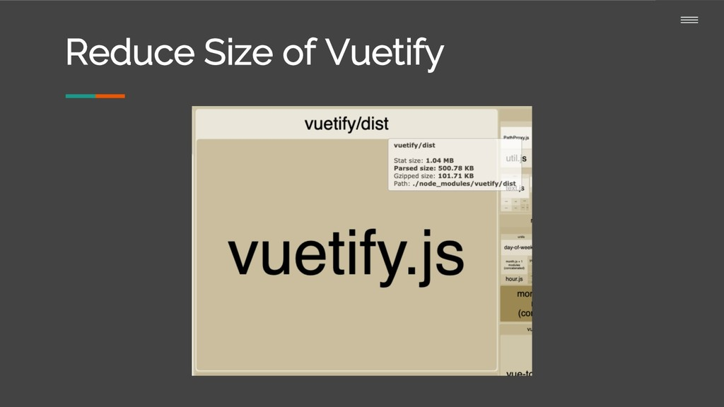 Reduce Size of Vuetify