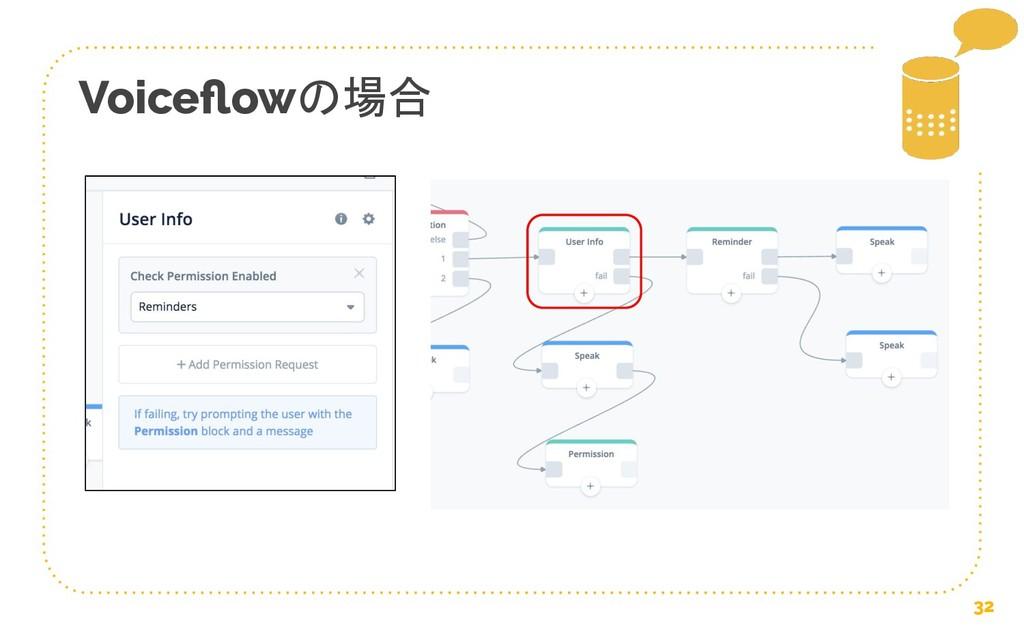 Voiceflowの場合 32