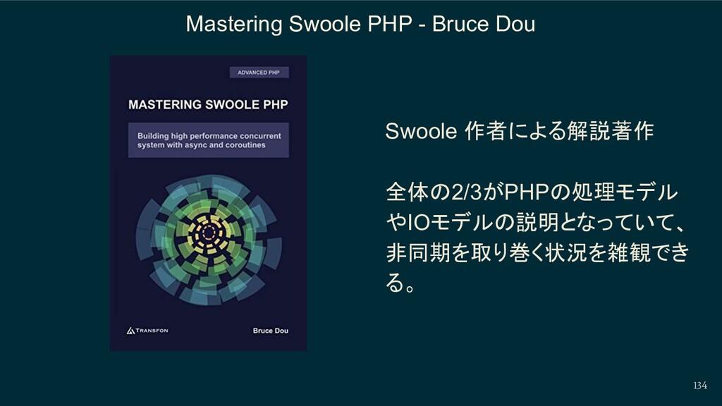 134 Mastering Swoole PHP - Bruce Dou Swoole 作者に...