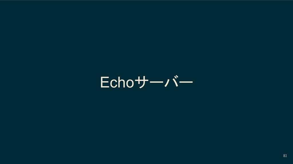 81 Echoサーバー