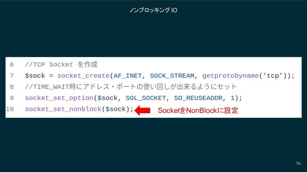 96 ノンブロッキングIO SocketをNonBlockに設定