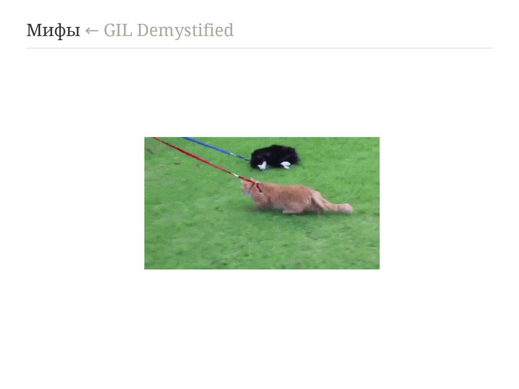 Мифы GIL Demystified ←