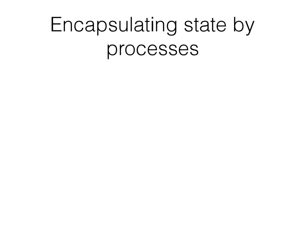 Encapsulating state by processes