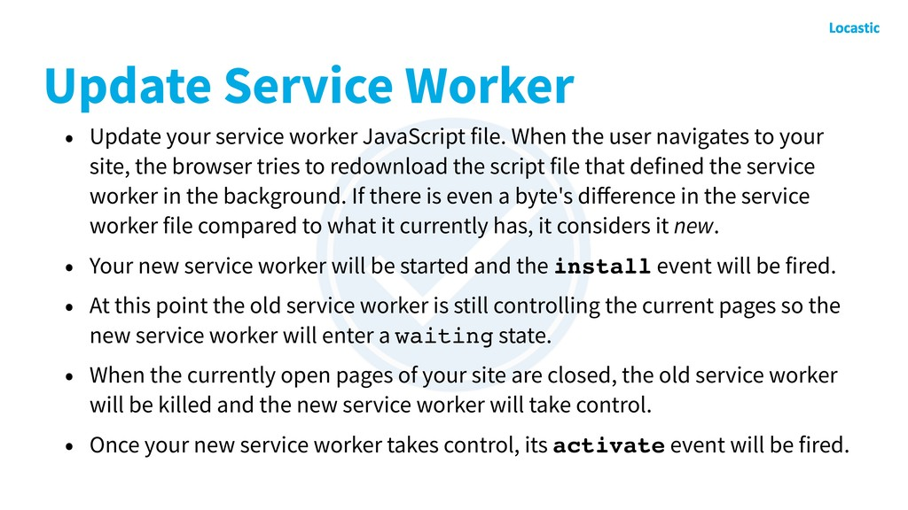 Update Service Worker • Update your service wor...
