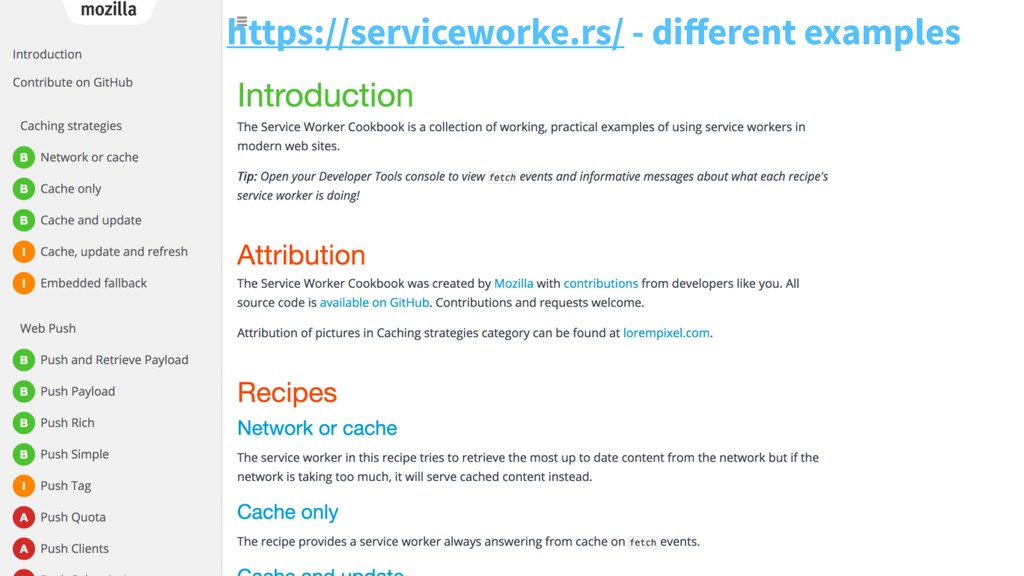 https://serviceworke.rs/ - different examples