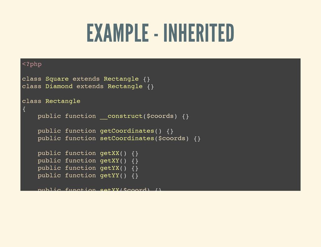 EXAMPLE - INHERITED < ? p h p c l a s s S q u a...