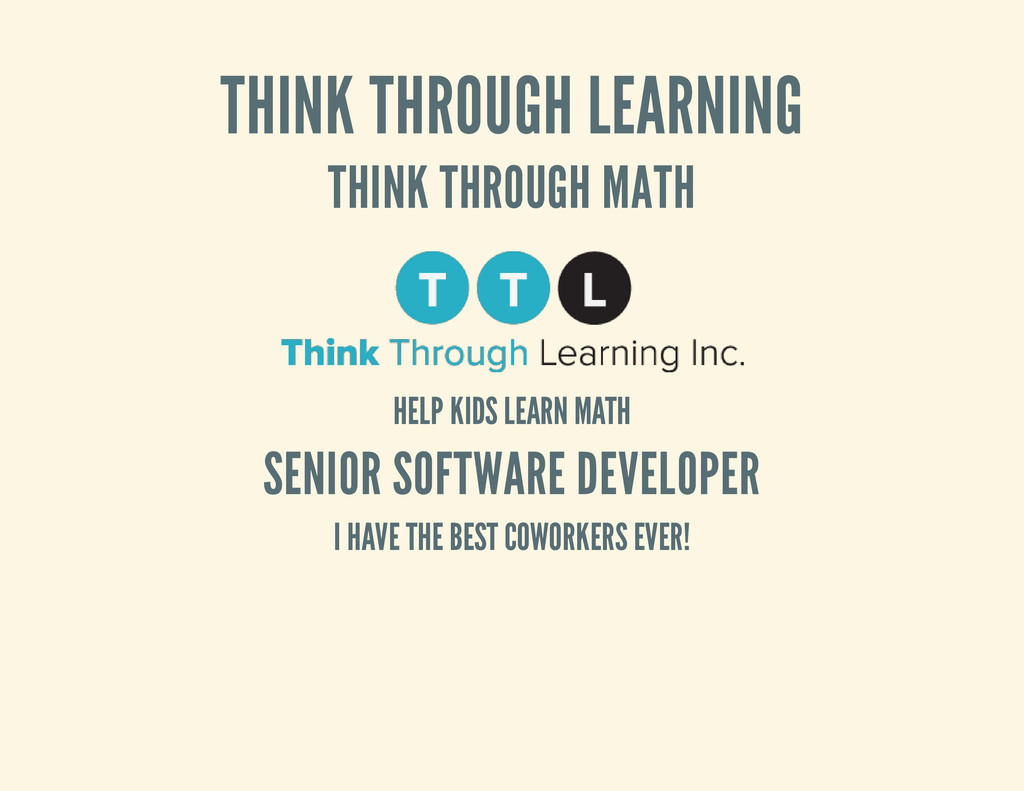 THINK THROUGH LEARNING THINK THROUGH MATH HELP ...