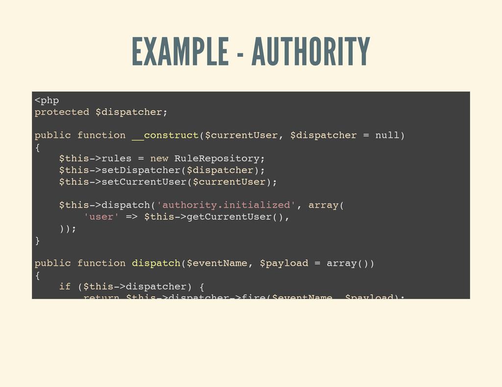 EXAMPLE - AUTHORITY < p h p p r o t e c t e d $...