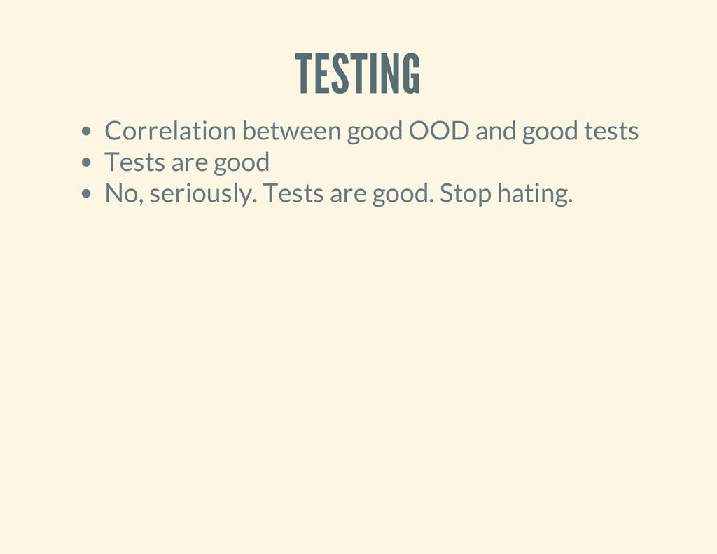 TESTING Correlation between good OOD and good t...