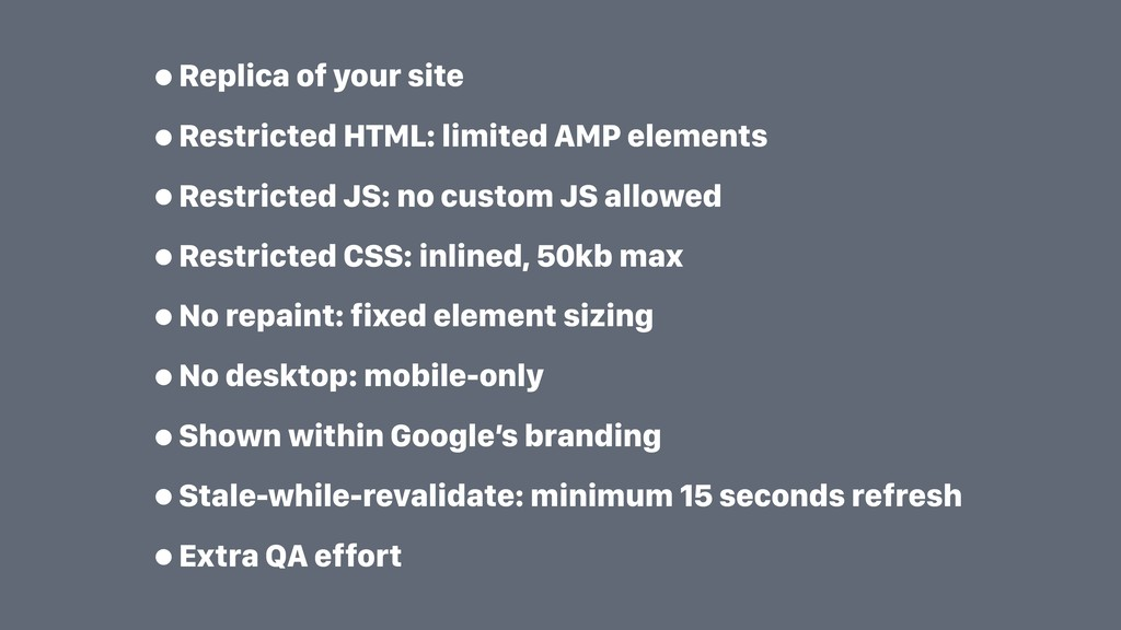 •Replica of your site •Restricted HTML: limited...