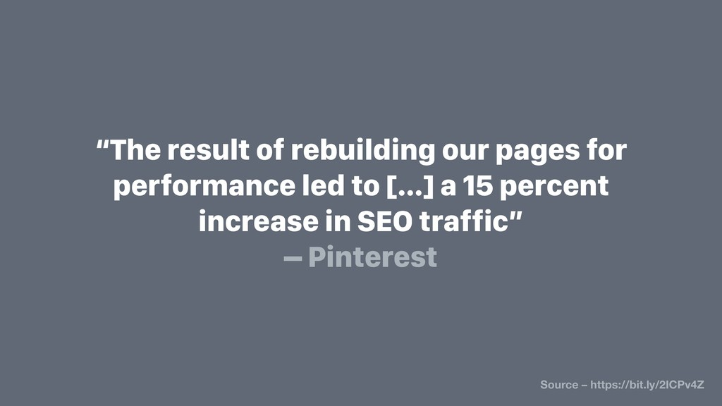 """""""The result of rebuilding our pages for perform..."""