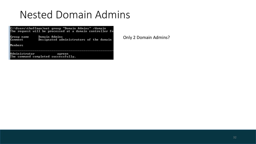 Nested Domain Admins 32 Only 2 Domain Admins?