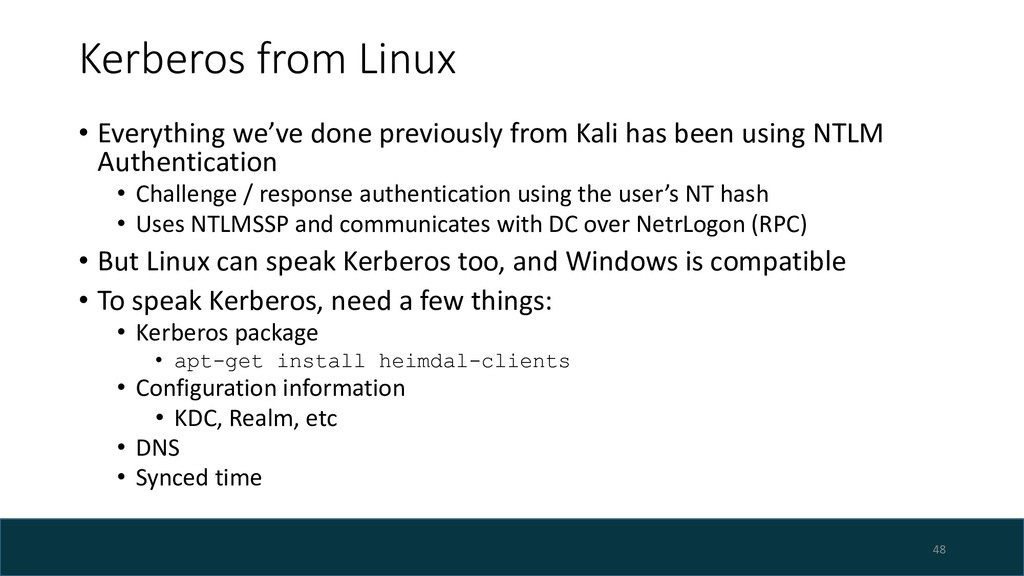 Kerberos from Linux • Everything we've done pre...