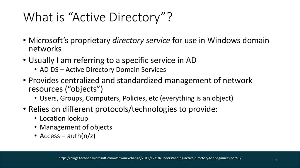 "What is ""Active Directory""? • Microsoft's propr..."
