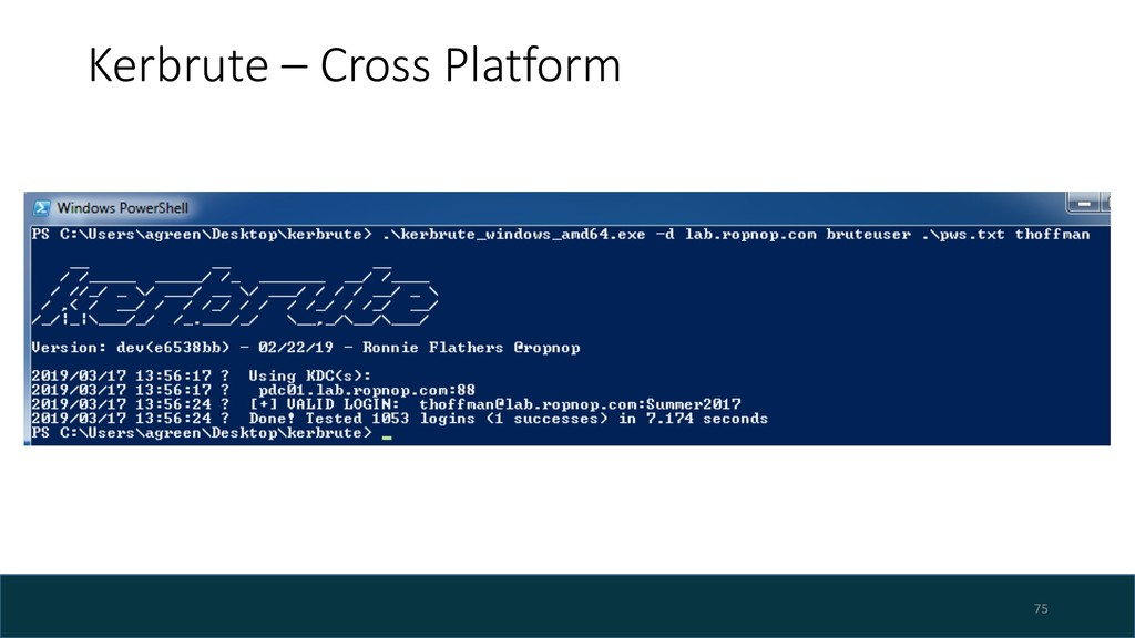 Kerbrute – Cross Platform 75