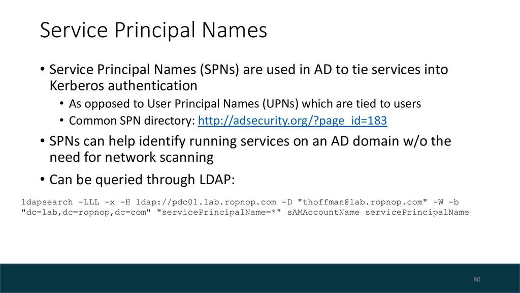 Service Principal Names • Service Principal Nam...