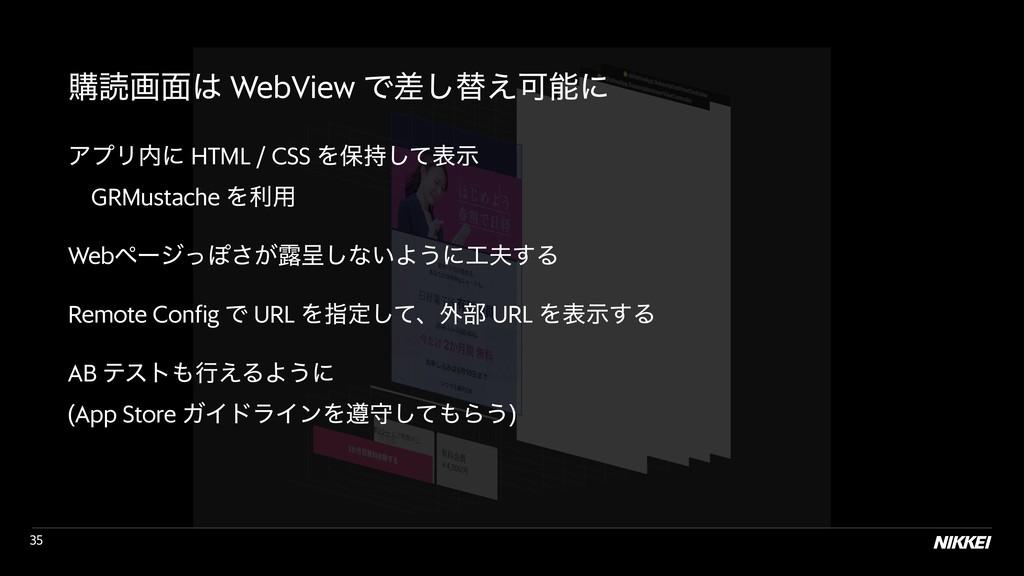 !35 ߪಡը໘ WebView Ͱࠩ͠ସ͑Մʹ ΞϓϦʹ HTML / CSS Λอ...