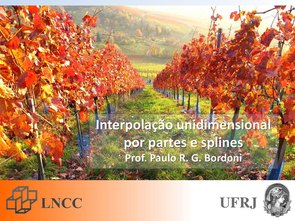 Interpolação unidimensional por partes e spline...