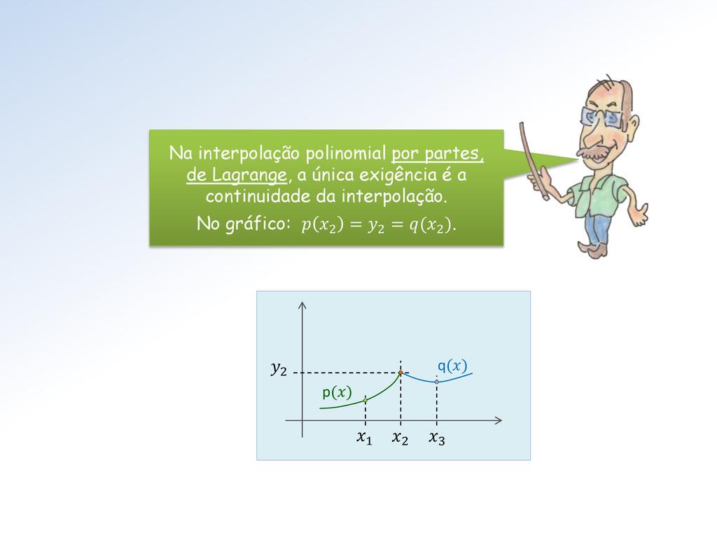 p() q() 2 2 3 1 Na interpolação polinomial por ...