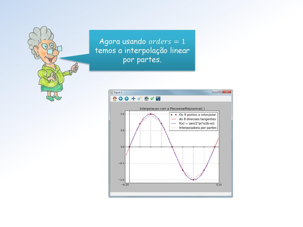 Agora usando  = 1 temos a interpolação linear p...
