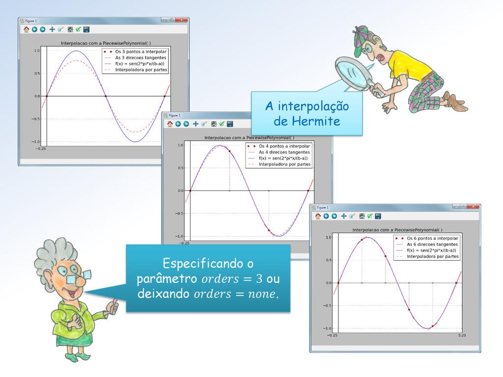 A interpolação de Hermite Especificando o parâm...