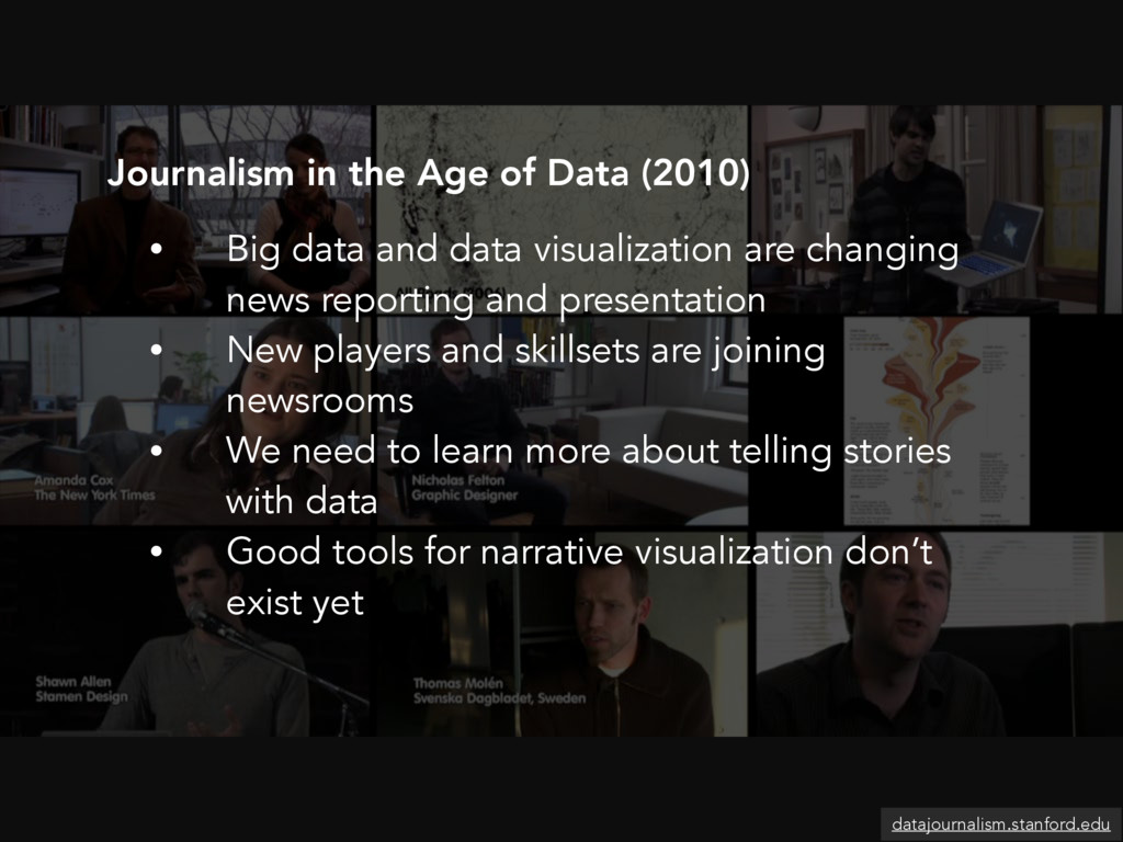 • Big data and data visualization are changing ...