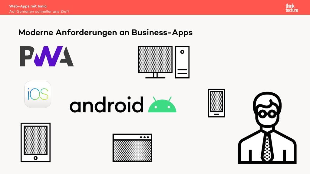 Moderne Anforderungen an Business-Apps Auf Schi...