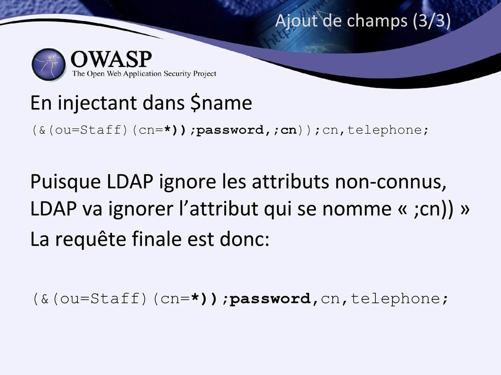 (&(ou=Staff)(cn=*));password,;cn));cn,telephone...