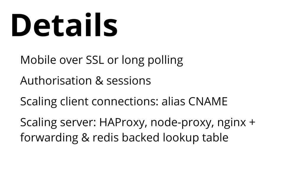 Mobile over SSL or long polling Authorisation &...