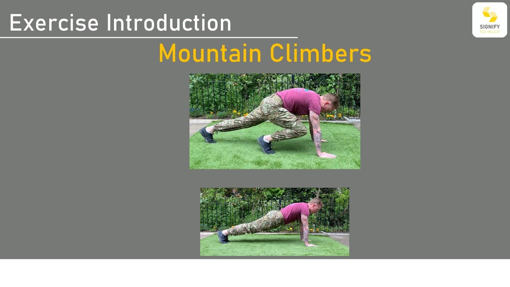 Exercise Introduction Mountain Climbers