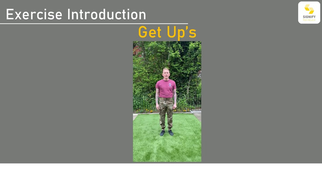 Exercise Introduction Get Up's