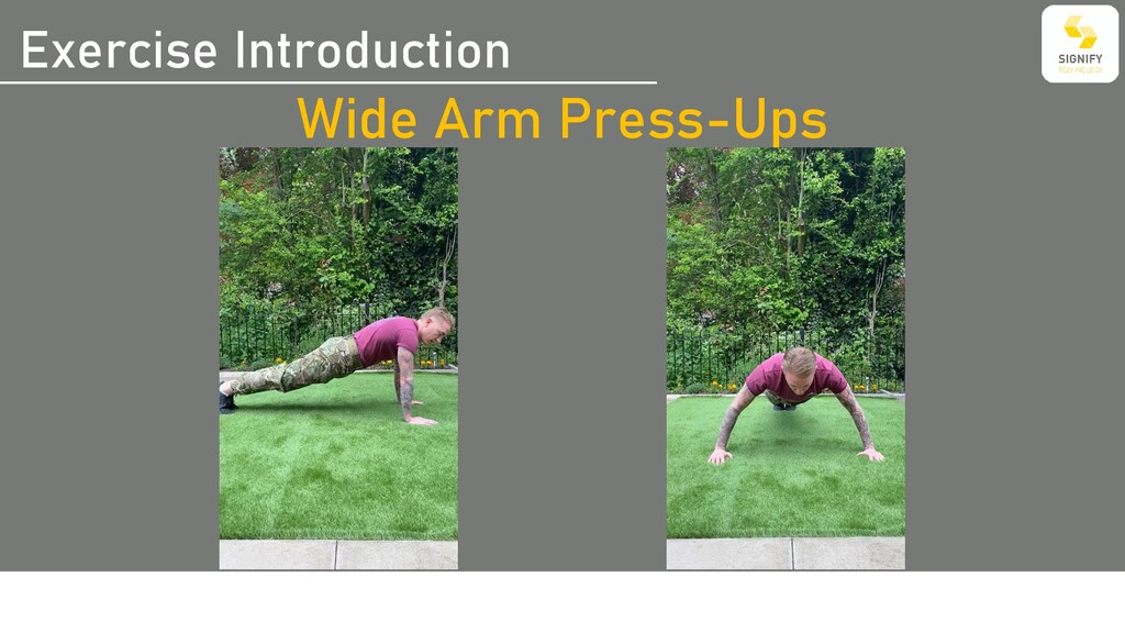 Exercise Introduction Wide Arm Press-Ups