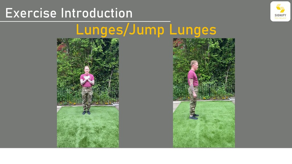 Exercise Introduction Lunges/Jump Lunges