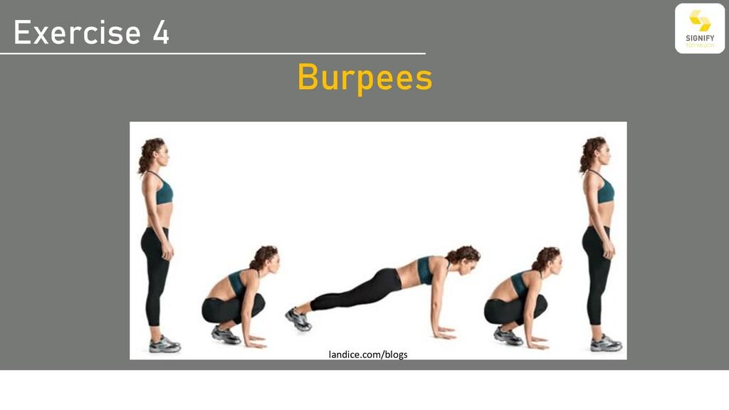 Exercise 4 Burpees landice.com/blogs
